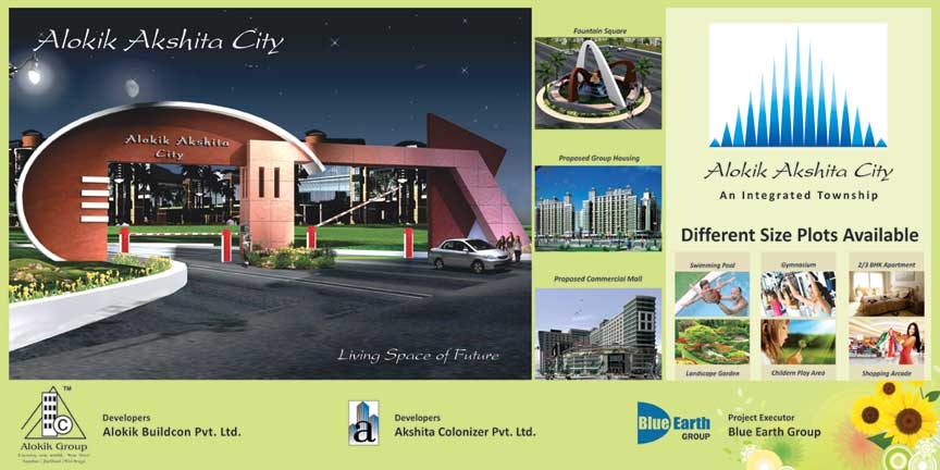 187 Alokik Akshita Hoarding Blue Earth Group Real Estate